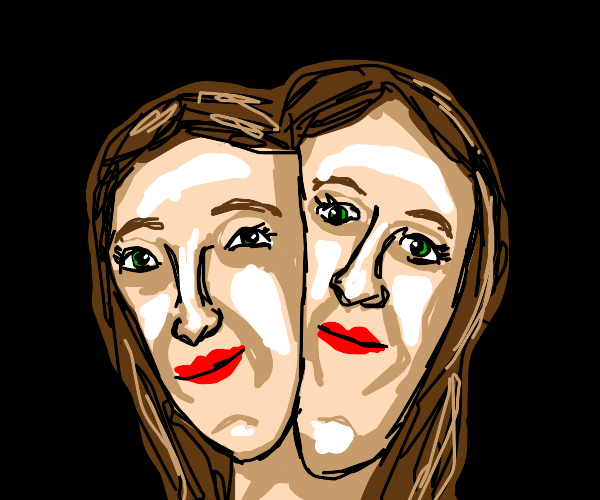Two faced lady