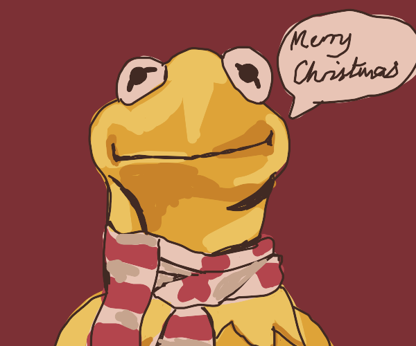 Kermit wishes you a merry Christmas
