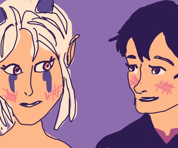 Rayla and Callum are blushy (Dragon Prince)