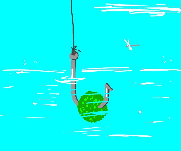 green fishing bait