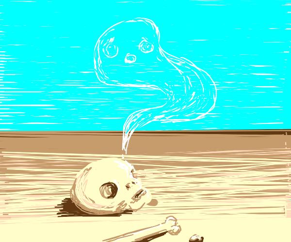 ghost on a desert