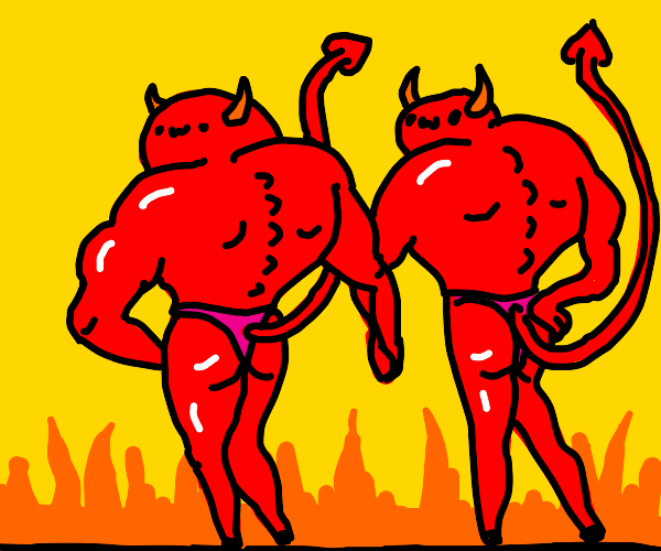 Overly sexualized muscular gay demons ( owo )