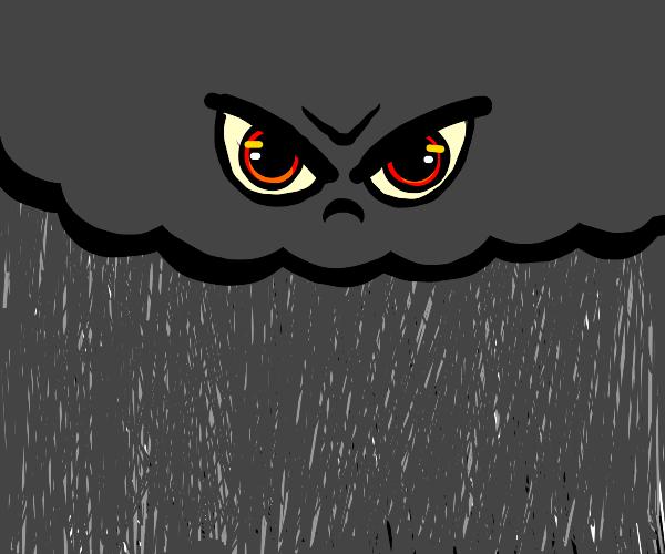 angry rain clould