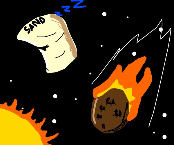 Sleeping sandbag and meteor