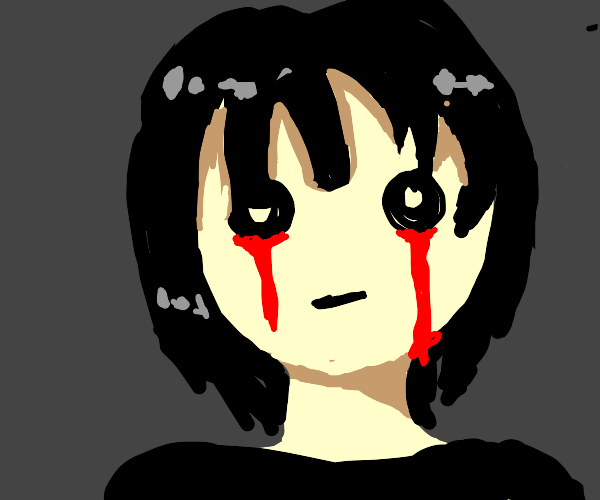 girl crying blood