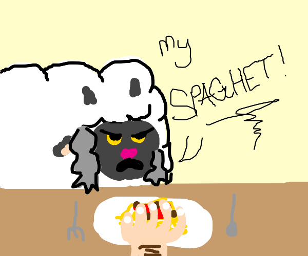 somebody toucha sheep's spaghet