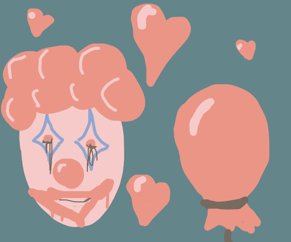 creepy clown falls in love with balloon