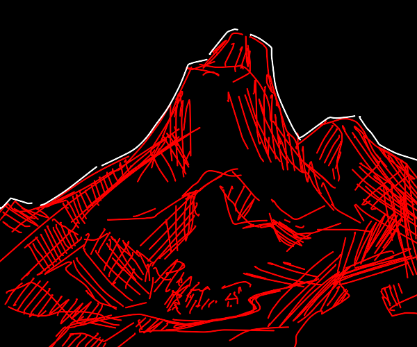 blood red mountains