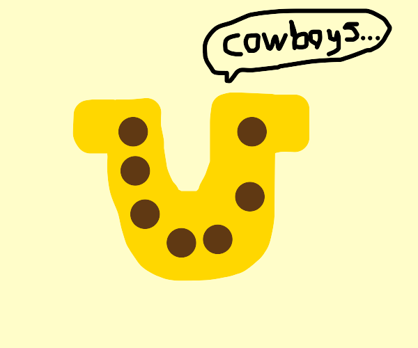Horseshoe talks about cowboy