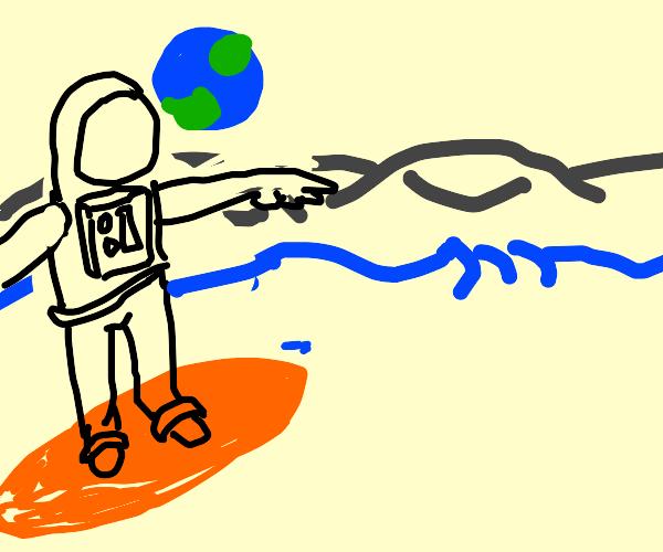 astronaut safer on the moon