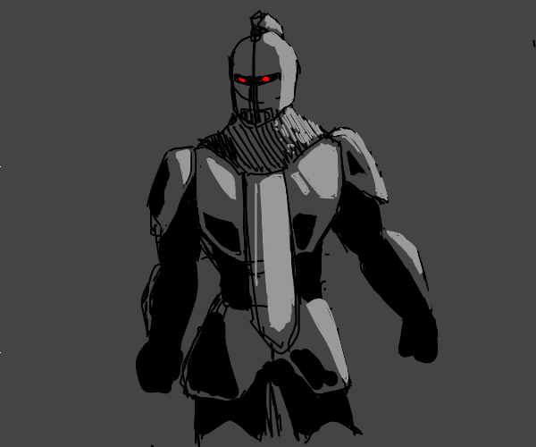 A Knight with Red eyes
