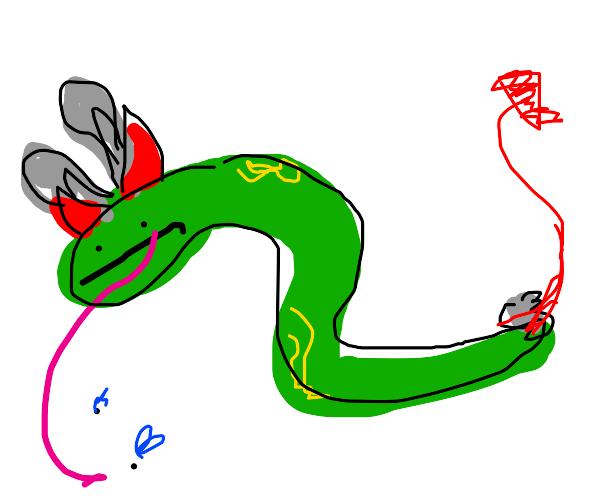 satan frog snake bunny?