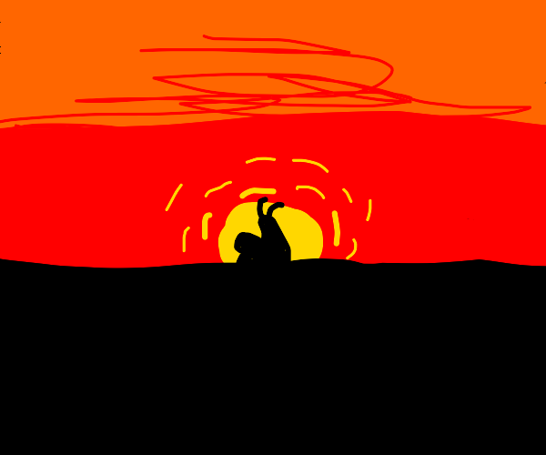 Giant Snail at Sunset