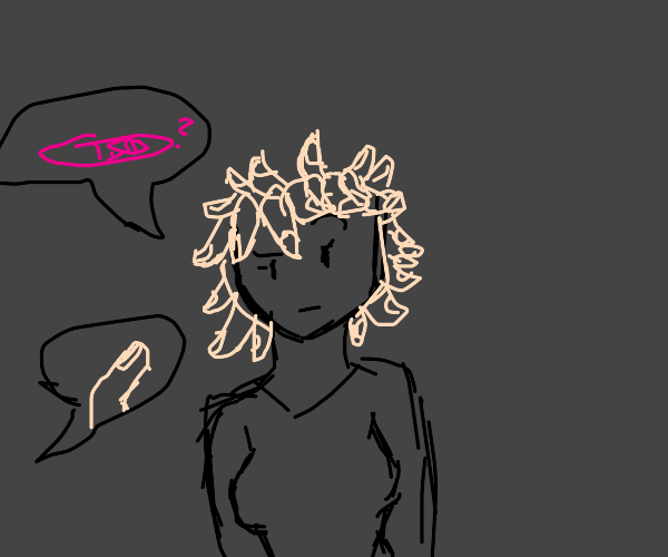 """Lady with finger hair asks """"do I look preggo"""""""