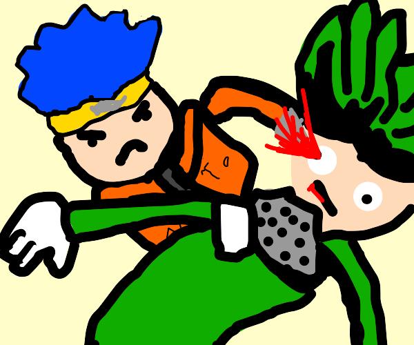naruto ripoff kills guy from hero academia