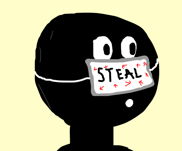 man has a face made of steal o.o