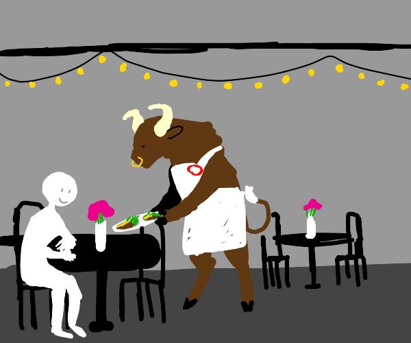 Minotaur Waiter