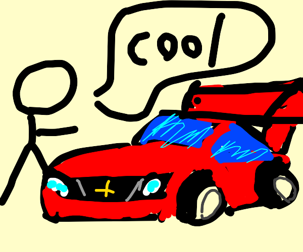 A Person Points At A Cool Looking Car