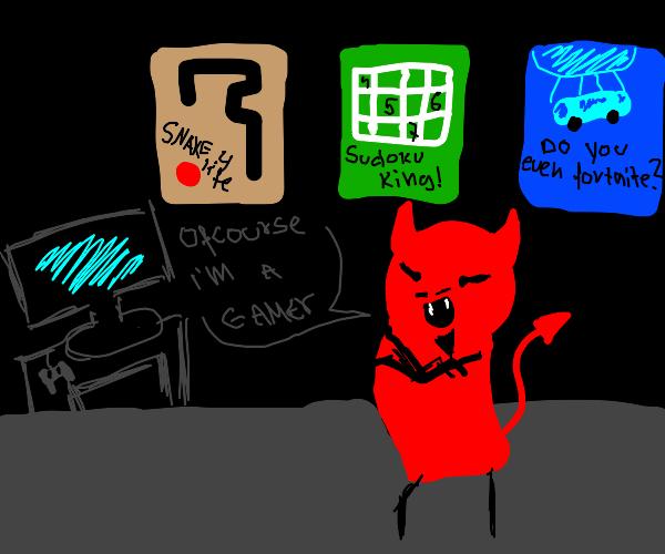Satan is a gamer