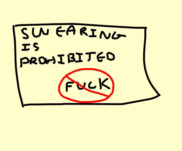 swearing prohibited