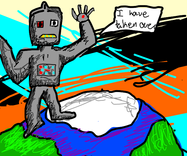 giant robot takes over the world!