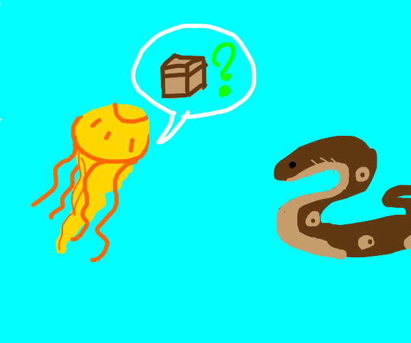 jellyfish asks for box from eel