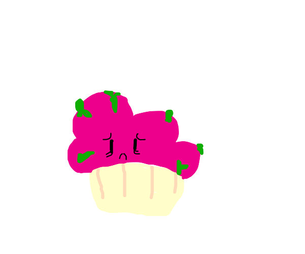 A very old, moldy cupcake that no one wants