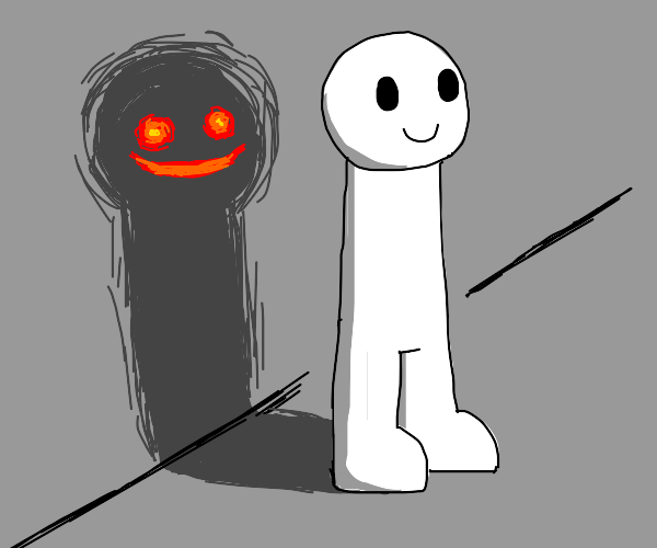 Evil shadow man