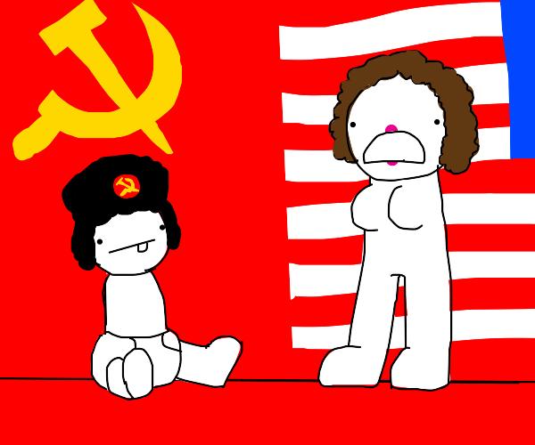 Comunist agenst mother