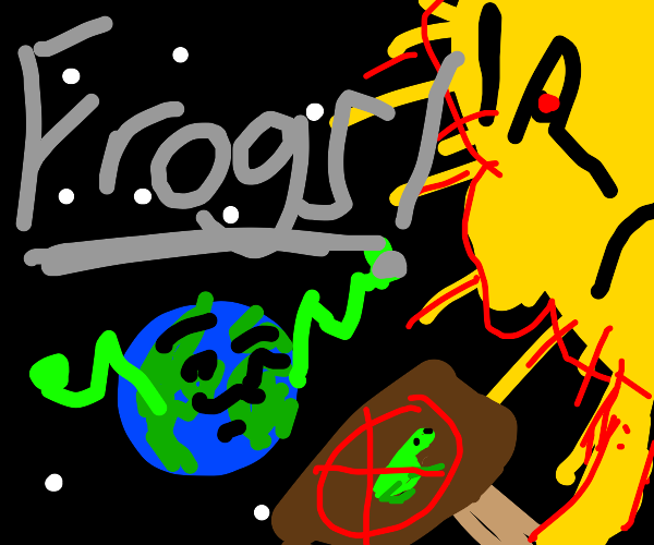 Sun mad at earth bc it broke the no frog rule