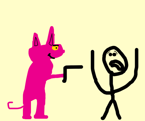 pink panther is gonna destroy you