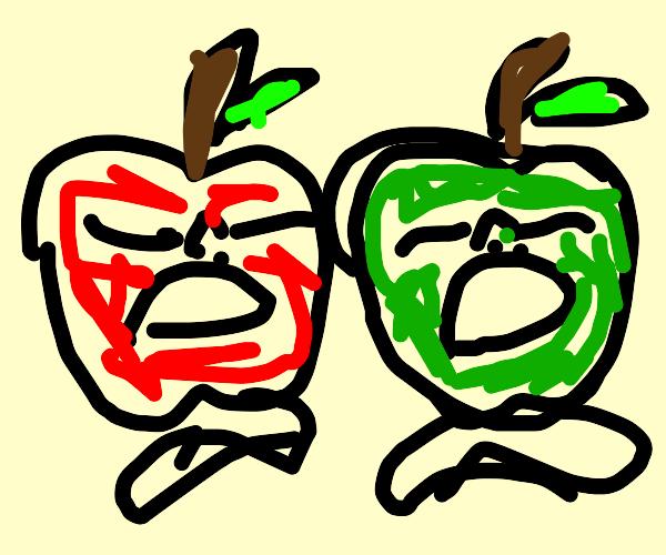 arrogant screaming apples