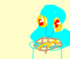Squid eating Waffles