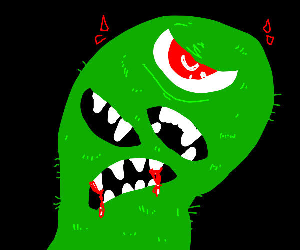 green scary monster