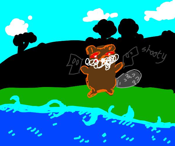 Rabid beaver with guns