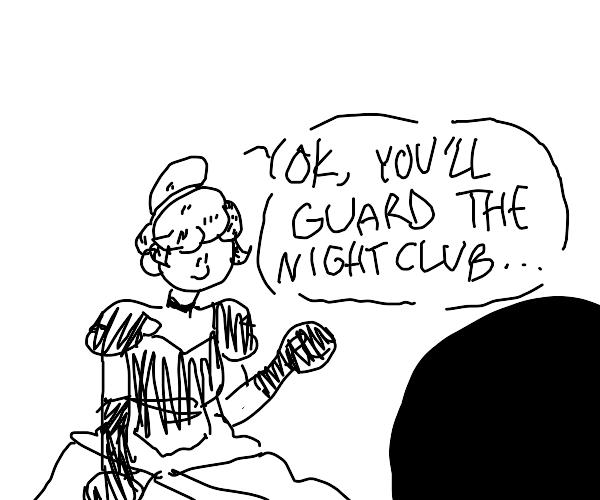 Cinderella hiring Bouncer