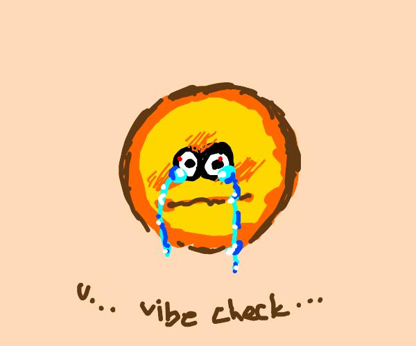 crying emoji vibe check
