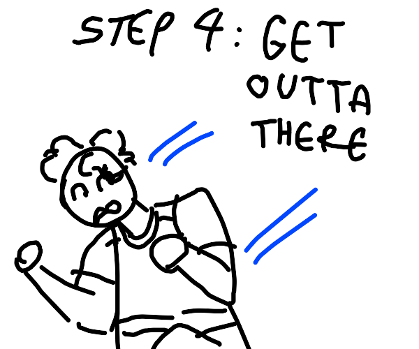 Step 3: you and squid jeff have an argument