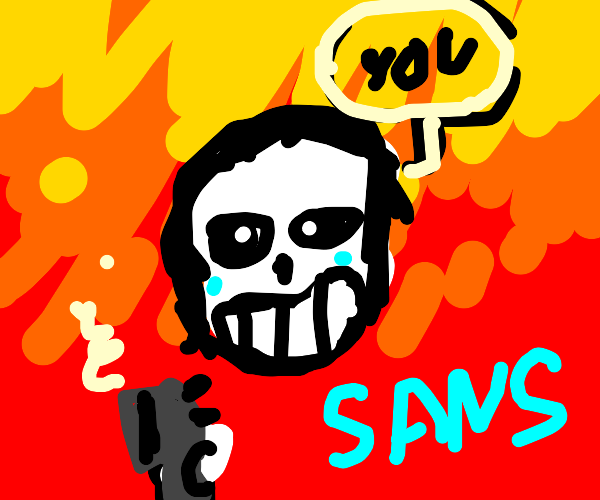 Aftermath of someone punching sans