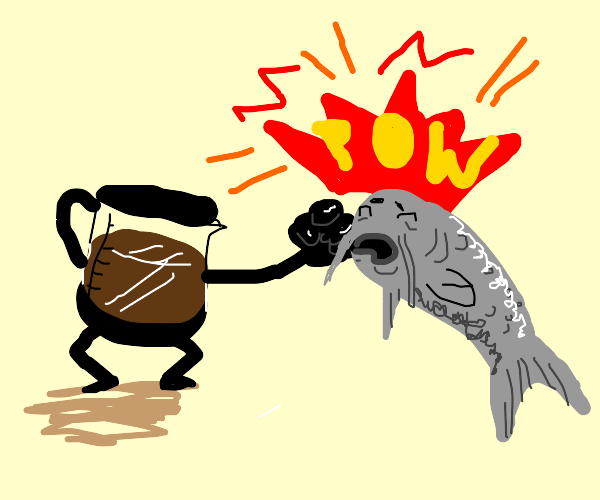 Coffee punches Catfish