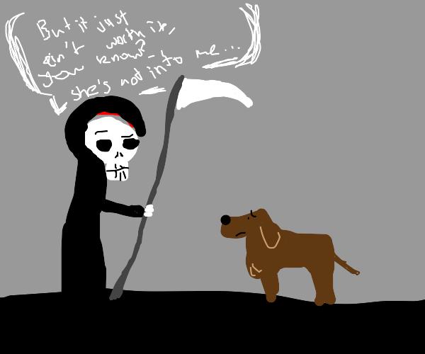 Grim Reaper telling it like it is