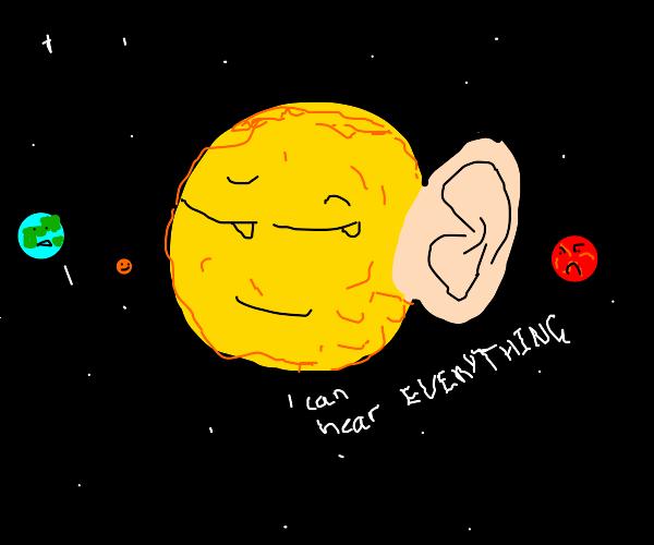 Sun with an ear
