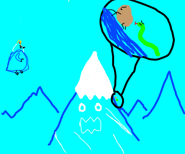 A Potato and a Snake climb up a mountain
