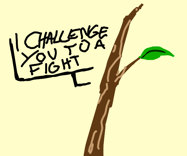 Stick challenges you to a fight.