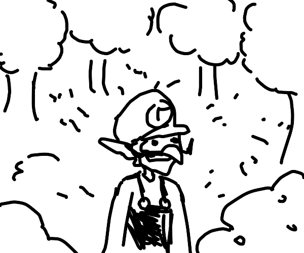 Waluigi in the forest