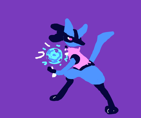 Lucario charges his energy!!