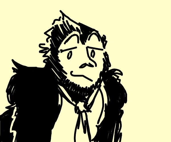 Smug gorilla in a tie