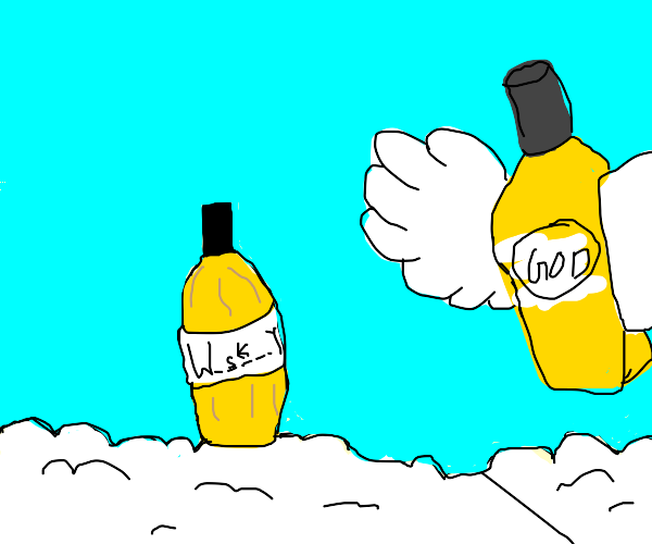 whiskey finds god