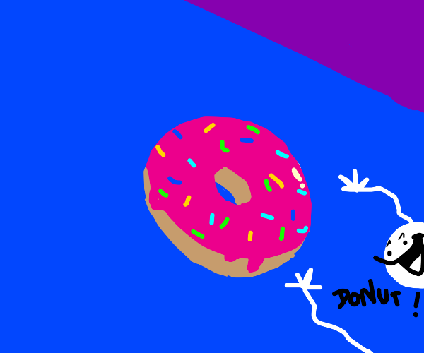 A donut with sprinkles