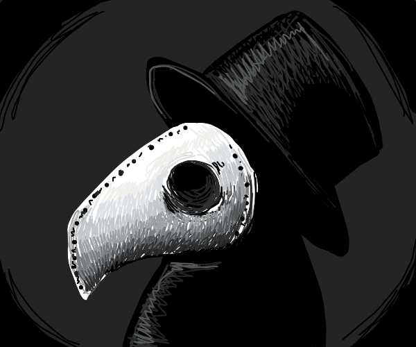 A nicely drawn plague doctor.
